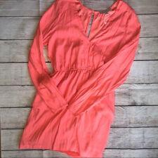Finders Keepers V Neck Open Back Mini Dress Pink Medium