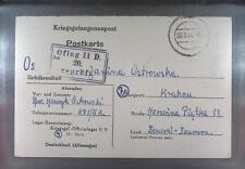 Camp Oflag IID Grossborn 1944 POW Prisoner of War Kriegsgefangenenpost (K20e)