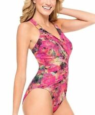 Spanx Whittle Waistline Draped One Piece Swimsuit Shaping Sz 12 NEW Screen 2095
