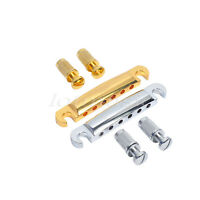 2 Sets Stop Bar Tailpiece Anchors for Guitar Bridge Parts Chrome Gold