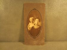 Victorian Antique Cabinet Card Photo of Mother and Daughter