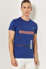 LACOSTE Essential Men's Blue T-Shirt 9616 Size 4/M