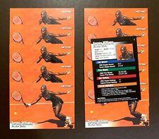 11) SERENA WILLIAMS 2003 NetPro Tennis Card #1 ROOKIE CARD RC LOT