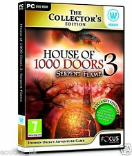 House of 1,000 Doors Serpent Flame Collector's Edition Hidden Object PC Game NEW