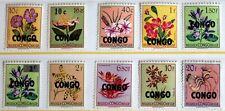 Congo – 1960 Flowers – P.Set to 20Fr (10) - Mint – (R6)