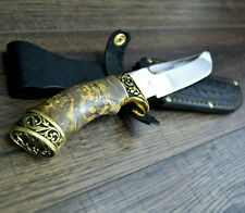 Hunting knife Survival Combat Tactical  fixed blade leather sheath.  # 8