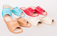Women`s/Ladies Leather Slippers size:UK 3,4,5,6,7,8.Colors:Beige,Red, Brown