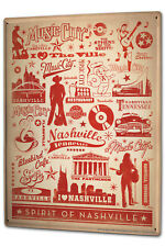 Tin Sign XXL Travel Kitchen  Spirit of Nashville Music City