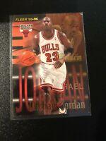 1995-96 ERROR CARD CHECK PICS AND DESCRIPTION Michael  Jordan Chicago Bulls