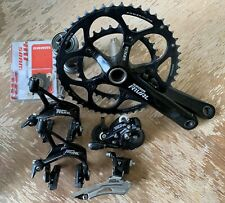 SRAM Rival Group 2x10 Compact Crankset 170 50/34  new pulleys mechanical