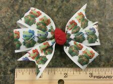 3inches Hello kitty ninja turtle pin wheel hair bows girl alligator clip