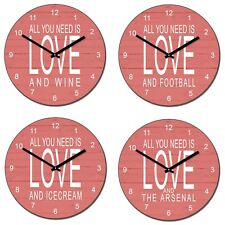 "Personalised ""ALL YOU NEED IS LOVE AND "" Your Choice here - Novelty Wall Clock"