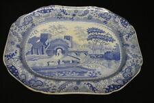 "Early 19th Century Spode Georgian ""Castle"" Serving Platter; Excellent Condition"