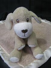 Dog Stuffed Plush And Security Blanket Brown Tan