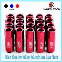 20pcs Red tuner M12x1.25 60mm for NISSAN INFINITI SUBARU SUZUKI Wheel Lug Nuts