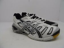 ASICS Women's GEL-Sensei 4 Volleyball Shoe White/Black/Silver 7M