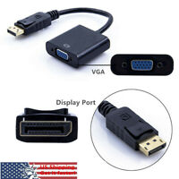 Display Port  DP to VGA Adapter Cable displayport to vga cord 1080P for dell hp