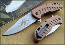 KERSHAW DUCK COMMANDER BISLAND SPRING ASSISTED KNIFE TAN WITH REVERSIBLE CLIP