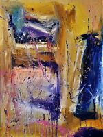 ORIGINAL Abstract Expressionist Painting Oil on Canvas by Artist - 30X40 framed
