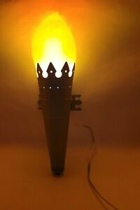 IKEA MINNEN FACKLA TORCH WALL LAMPS Sconce Light Medieval Castle  Flickers
