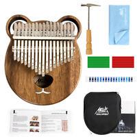 Aklot Kalimba 17 Keys with Tuning Hammer Bag Book Wiping cloth notation stickers