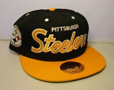 Pittsburgh Steelers Snapback Hat New with Stickers Mitchell & Ness Black & Gold