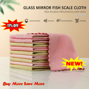 5PCS Comfortable and reusable Nano Scale streak-free cleaning cloth Nice To Use