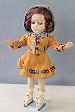 """Vintage 15"""" Arranbee R&B Nancy Lee Composition Skater Doll"""