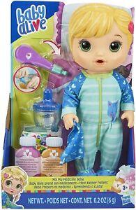 Baby Alive Mix My Medicine Baby Doll, Kitty-Cat Pyjamas Drinks Wets