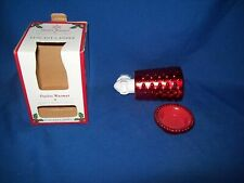 Unused Tuscany Candle Outlet Warmer * Red in Christmas Decorated Box