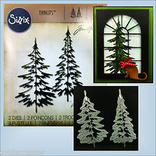 Pine Trees dies Sizzix Thinlits metal Die Set 2PK - WOODLANDS  660978 Tim Holtz