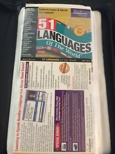 51 Languages of the World, Transparent Language, 2 CDs, ©1999 And Assorted CD'S