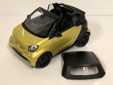 Smart Fortwo Cabriolet Noir Jaune 1:18 Echelle Norev B66960289
