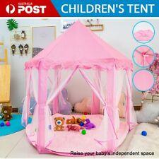 Pink Children Kids Play Tent Fairy Princess Girls Boys Hexagon Playhouse House