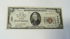 $20 National Currency 1929 - Type 2 Ch#13622 National Bank, Bay City, MI
