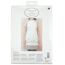Rico Flowers and Butterflies Traced Apron Embroidery Kit