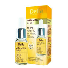 Delia 100 Serum Anti Wrinkle Face Neckline Vitamins a E F 10ml Intensive Q10