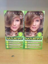 Naturtint Permanent Hair Colourant 2 Packs X 165 ML Hazelnut  Blonde 7N