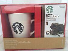 NEW Starbucks Mug Gift Set  Hot Cocoa Gift Set Mug and Double Chocolate Hot Coco