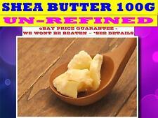 UNREFINED SHEA BUTTER Crude 100G☆100% - (Butyrospermum Parkii) SUPER FRESH STOCK