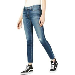 Hudson Womens Colette Blue Denim Mid-Rise Skinny Jeans Juniors 27 BHFO 2882