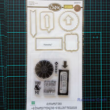 Sizzix Framelits Die Set 7PK with Stamps - Everyday