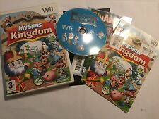 NINTENDO Wii GAME VIDEOGAME MY SIMS KINGDOM + BOX & INSTRUCTIONS / COMPLETE PAL
