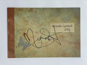 MIRANDA LAMBERT SIGNED AUTOGRAPH 2005 MEMORIES ALBUM INSERT PHOTO BOOK - W/ JSA