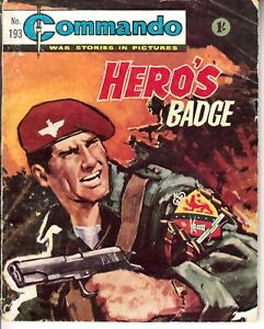 COMMANDO COMIC - No 193   HEROS BADGE