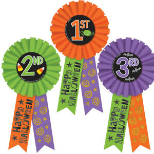 Halloween Awards Rosette Badges Party Accessory