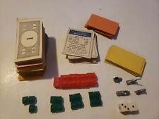 Vintage 1961 Monopoly Game Money Title Cards Etc Pieces Parts Parker Brothers