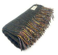 100% Recycled Wool Hebridean Rug/Blanket/Throw Large Dark Green