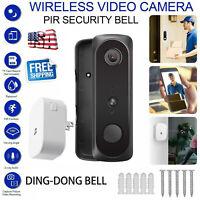 Two-Way Door Bell WiFi Wireless Video 1080P HD Doorbell Security Camera W/ Chime