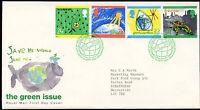 GB FDC 1992 The Green Issue, Bureau H/S #C22912